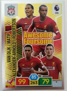 2019-20-PANINI-Adrenalyn-XL-EPL-Soccer-Card-Liverpool-Awesome-Foursome