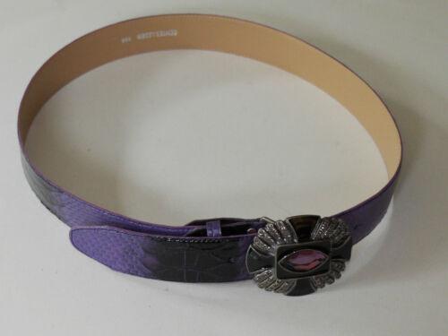 Kroko  -violett Schnäppchen PREIS !! Designer Gürtel NEU