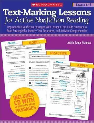 Text Marking Lessons For Active Nonfiction Reading Reproducible Nonfiction Passages With Lessons That Guide Students To Read Strategically Identify