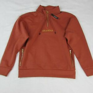 Nike-Air-Jordan-MJ-Remastered-1-4-Zip-Up-Sweatshirt-Jacket-Dusty-Peach-New-110