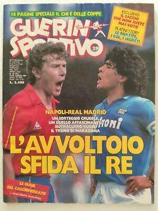 GUERIN-SPORTIVO-29-1987-REAL-MADRID-NAPOLI-MARADONA-BUTRAGUENO-POLSTER-PLATINI