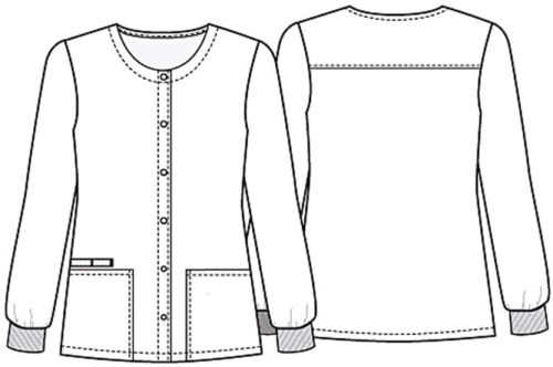 Totally Pawsome Cherokee Scrubs Genuine Snap Front Warm Up Jacket CK301 TYPW
