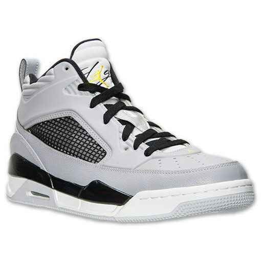 best service 9deed ee7c1 Nike Jordan Flight 9.5 Basketball Shoes Wolf Grey Yellow Black 654262 070  for sale online   eBay