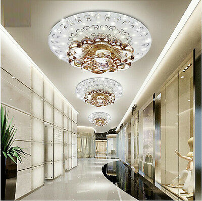 New Modern Crystal Fixture Ceiling Light Pendant Lamp LED Lighting Chandelier