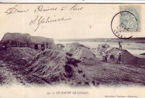 CPA-50-Coutances-Periers-St-Germain-s-Ay-Le-HAVRE-de-LESSAY-Chantier-Chaumieres
