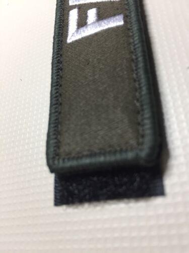 """Nome Patch gancio e linea chiusa V © 5/""""X 1/"""" ricamato Airsoft Sicurezza Gilet Piastra"""