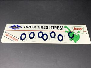 VINTAGE-034-GOODYEAR-TIRES-amp-SINCLAIR-DINO-DINOSAUR-034-15-034-METAL-GASOLINE-amp-OIL-SIGN