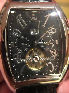 a1832a5f5d9 WM Of Switzerland Tonneau TS Style Automatic Men s Watch 35 Jewels ...