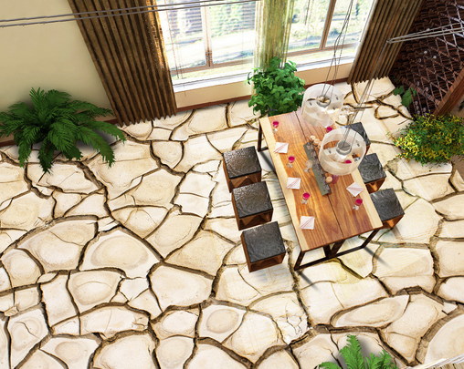 3D Dry Ground 76 Floor WallPaper Murals Wall Print Decal 5D AU Lemon