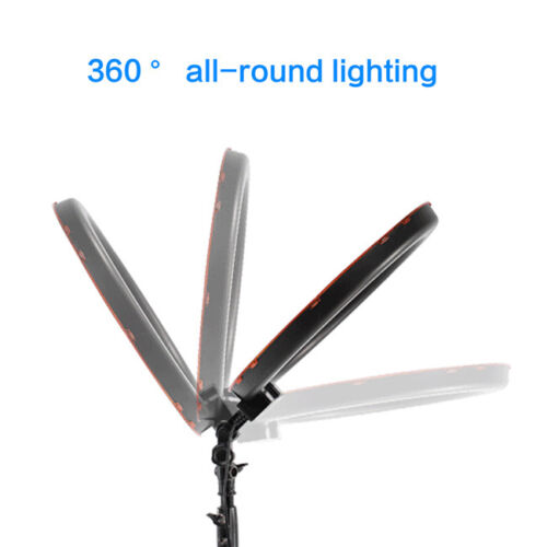 """Studio Photo Video 50W 19/"""" 48cm Bi-Color LED Dimmable Ring Light with 2M Stand"""