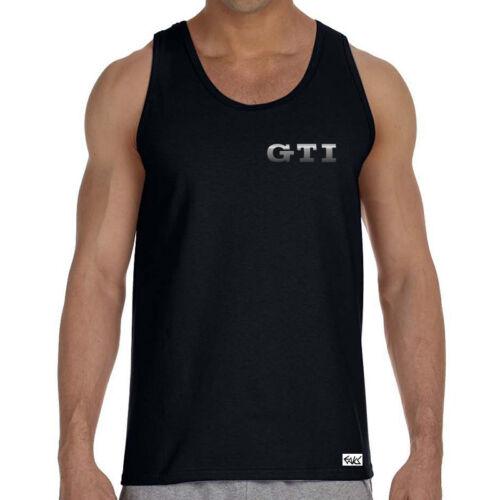 """EAKS® Herren Tank Top /""""GTI-SCHRIFTZUG/"""" schwarz #2 Logo Golffahrer Muskel Shirt"""