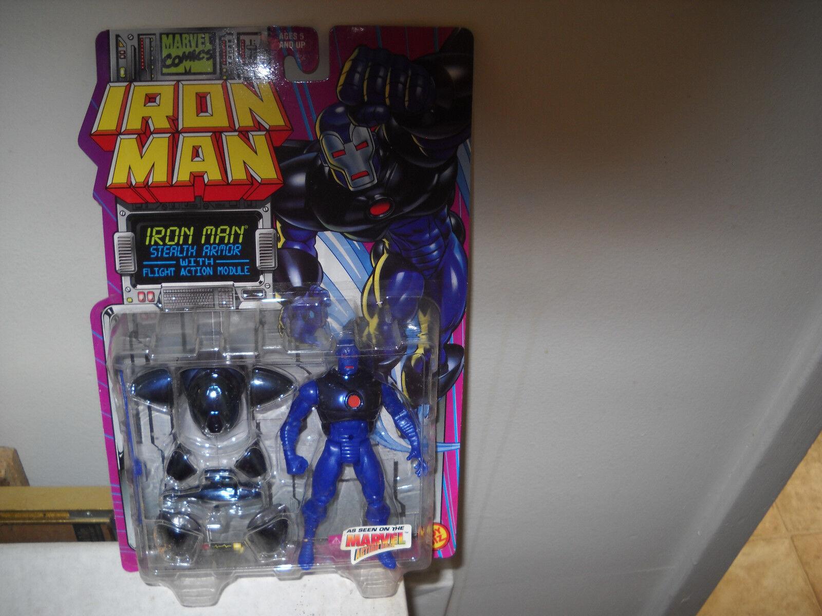 Iron Man Action Figure-Iron Man-Stealth Armor vf nm on Card