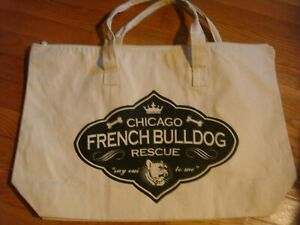 NWOT-Chicago-French-Bulldog-Rescue-034-Big-Ears-Don-039-t-Care-034-Large-Canvas-Bags