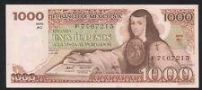 MEXICO 1000 Pesos 05/07/1978 (Juana de asbaje), Series AC F7C67215, Pick-70a UNC