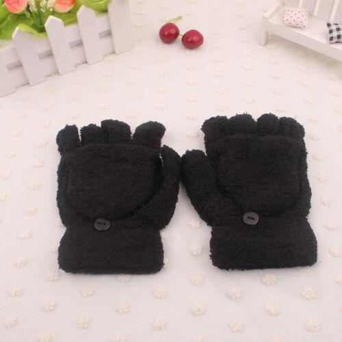 Winter Damen Herren Plüsch Handschuhe Kurzfinger Handschuh halbFinger Fäustlinge