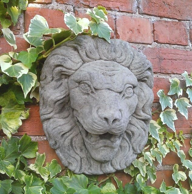 Stone Garden Large Lion Face Head Wall Water Feature Spout Fountain Plaque
