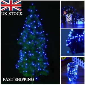 100-500 LEDs 8 Modes Garden Patio Holiday Solar String Lights Blue Waterproof UK