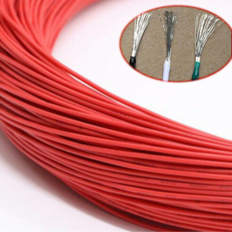 Red Electronic Wire Flexible Stranded Cable Cord Tin Copper UL1015 8 10 1224AWG
