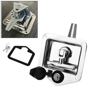 Folding T-Shaped Handle Lock Latch Toolbox Knob Lock for Trailer RV Caravan Car