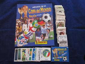 Panini 90 World Cup Story 1990, empty album+complete sticker set / Komplettsatz