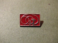 Vintage Soviet Russian Pin badge - October Revolution - 60 years Hammer & Sickle