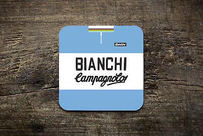 Frugale Bianchi-campag Replica Team Lana Jersey Coaster-bike Ninja Ciclismo Stile Retrò.-