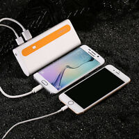 Ultrathin 10000mah Battery Charger Dual Usb External Power Bank For Cell Phone