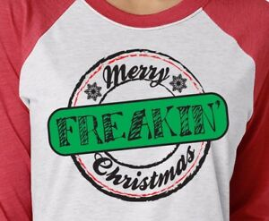Merry Freakin' Christmas 3/4 Sleeve Raglan Vacation ...