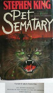 Stephen-King-Pet-Sematary-TRUE-First-Edition-15-95-Y38-RARE-Eerie-Print-Defect