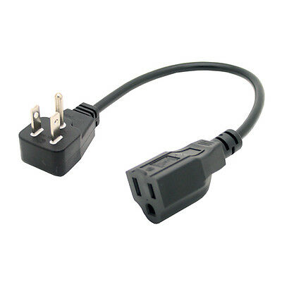 UL short power cable 5-15P//5-15R cord 10XPCS Short Flat Plug Power cord