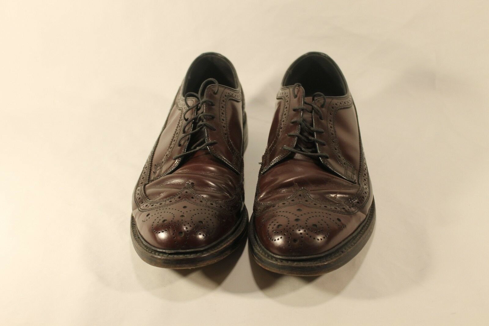 Uomo Walk Over Burgundy LongWing Wingtip Oxford Dress Brogue Shoes 10.5 C/A USA
