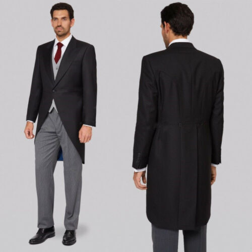 Men/'s Formal Tuxedos Stage Morning Groom Wedding Blazer Jacket One Button Long