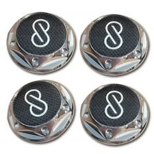 Black Carbon Fiber Wheel Center Caps 63.5mm Set Of 4