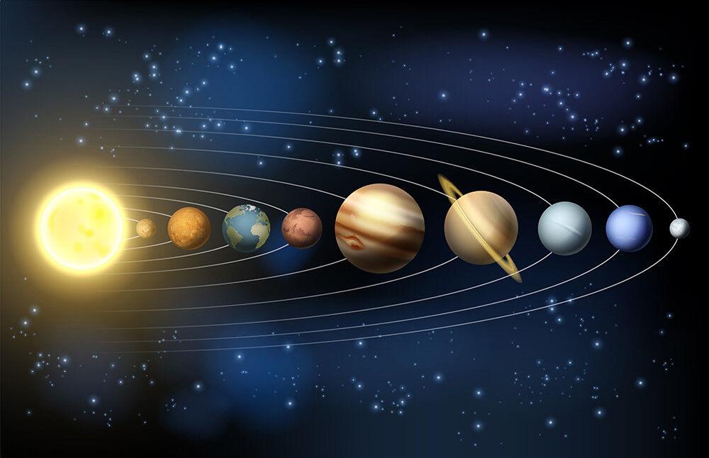 Fototapete Planeten Sonnensystem Astronomie Kleistertapete oder Selbstklebende