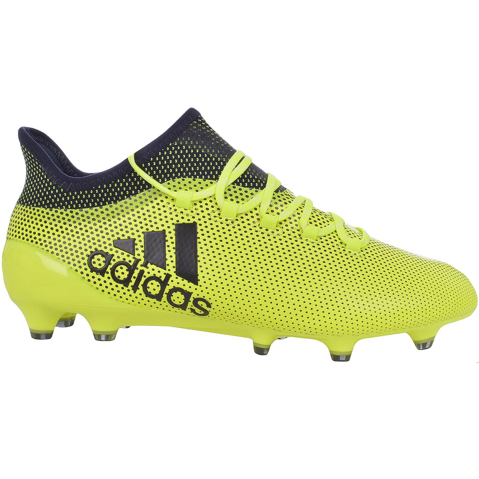 Adidas Performance Mens X 17.1 FG Football Sports botas zapatos - amarillo