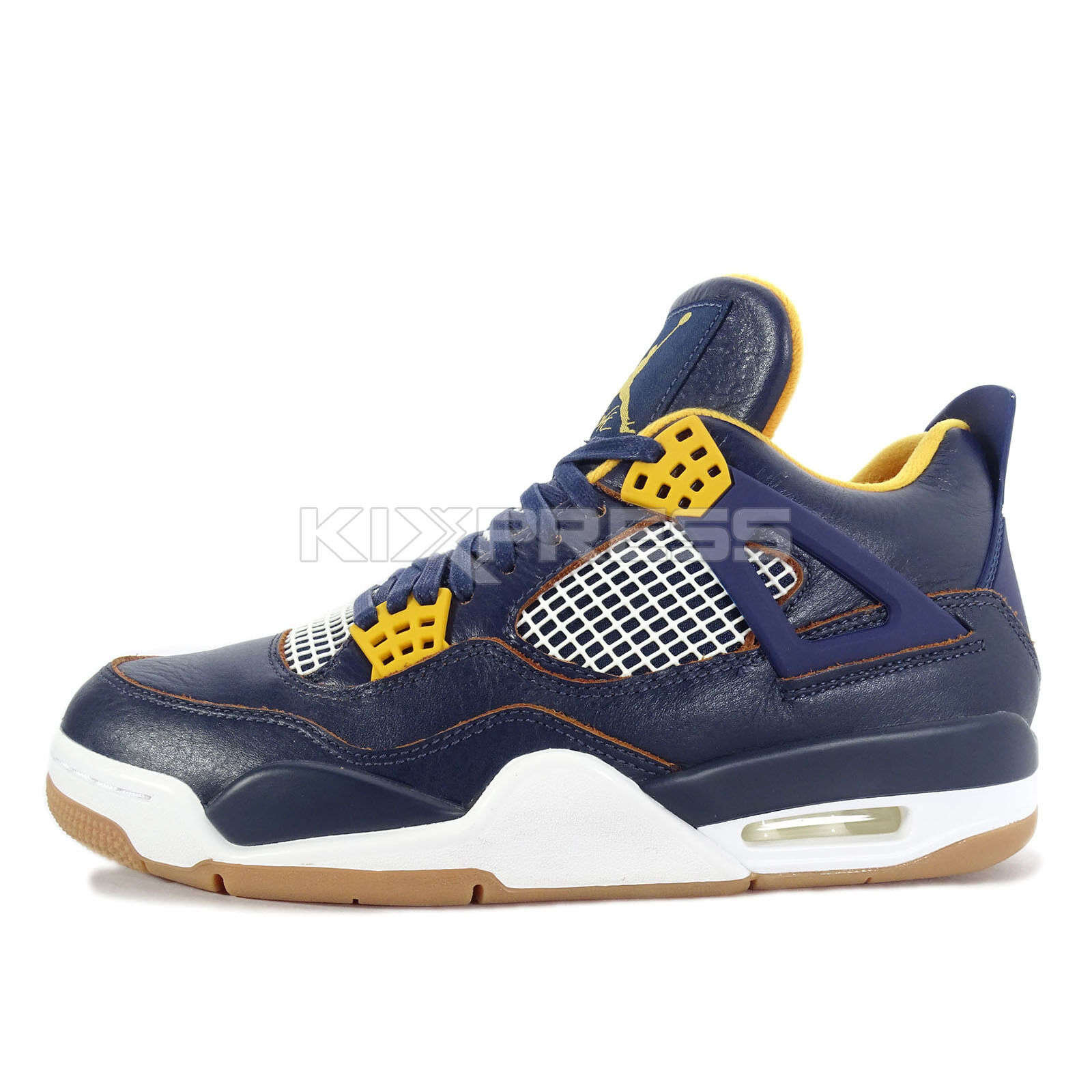Nike Air Jordan 4 Retro [308497-425] Basketball Dunk From Above Navy/Gold-White