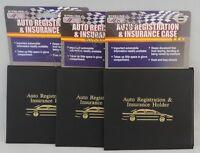 3 Auto Car Truck Registration Insurance Document Holder Wallet Case Id Card
