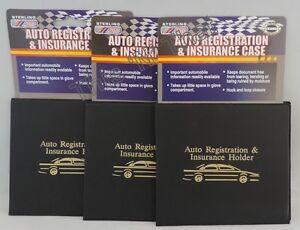 3 Auto Car Truck Registration Insurance Document Holder