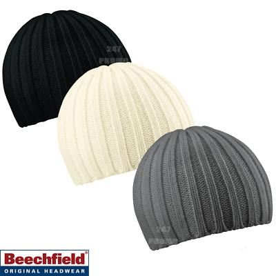 Responsabile Beechfield Classic Trama Grossa A Maglia Beanie A Coste Invernali Hat Cap 3 Colori Classici-mostra Il Titolo Originale Ad Ogni Costo