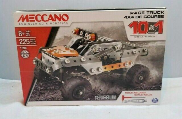 Meccano Erector 10 in 1 Model Race Truck 4x4 De Course Building Set