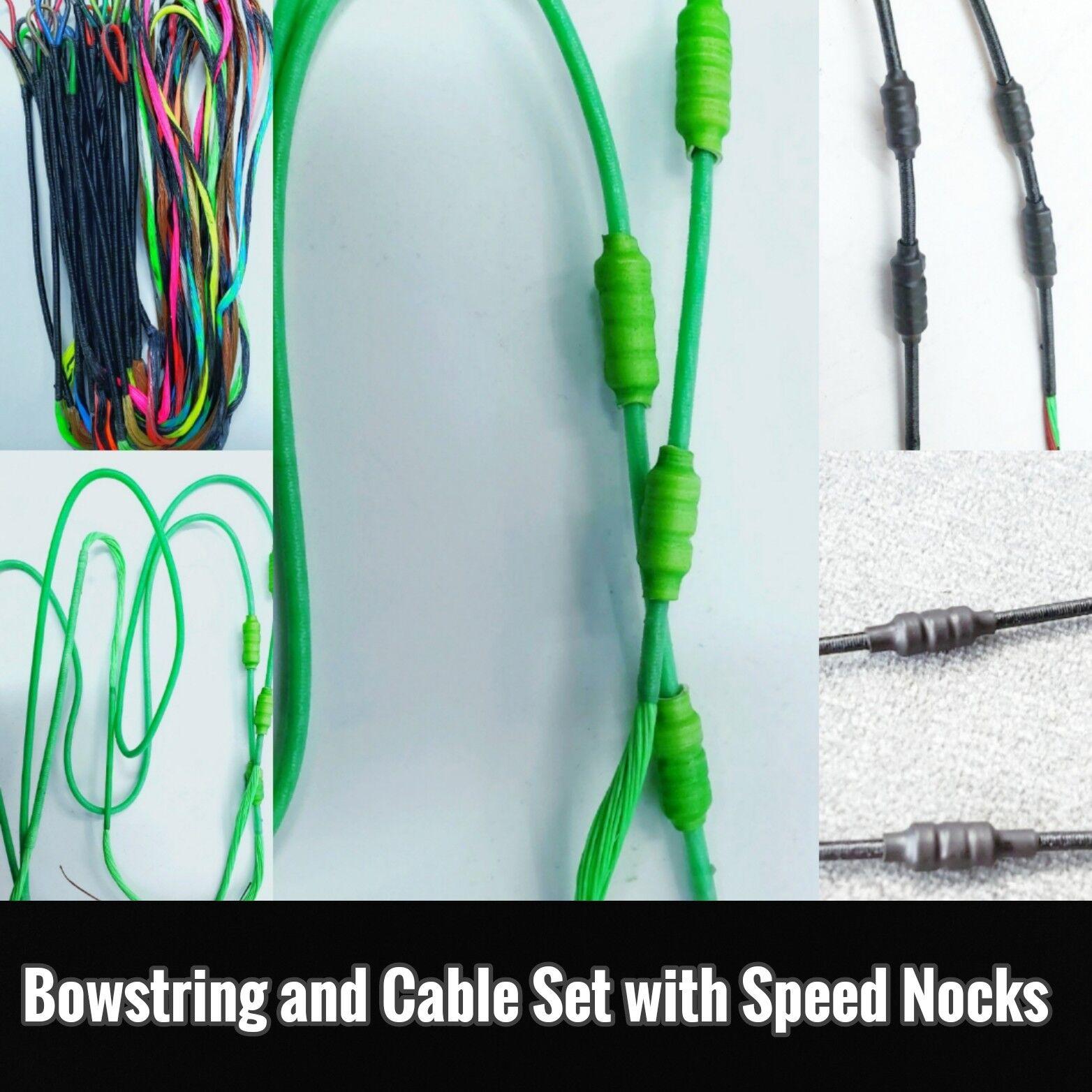 Hoyt NITRUM Turbo  2 Cuerda de arco y juego de cables con velocidad culatines Envío Gratuito