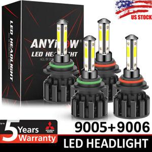 9005 9006 Total 4800W 720000LM LED Headlight Kit High Low Beam 6000K HID Bulbs
