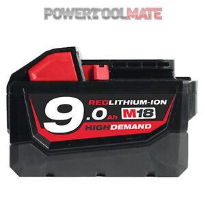Genuine-Milwaukee-M18B9-9-0Ah-18-V-Li-Ion-la-forte-demande-Batterie