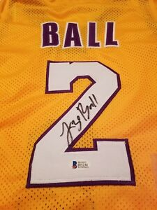 new product fae3a b7d89 Details about Lonzo Ball Autographed Replica Jersey - Beckett Certified -  Lakers