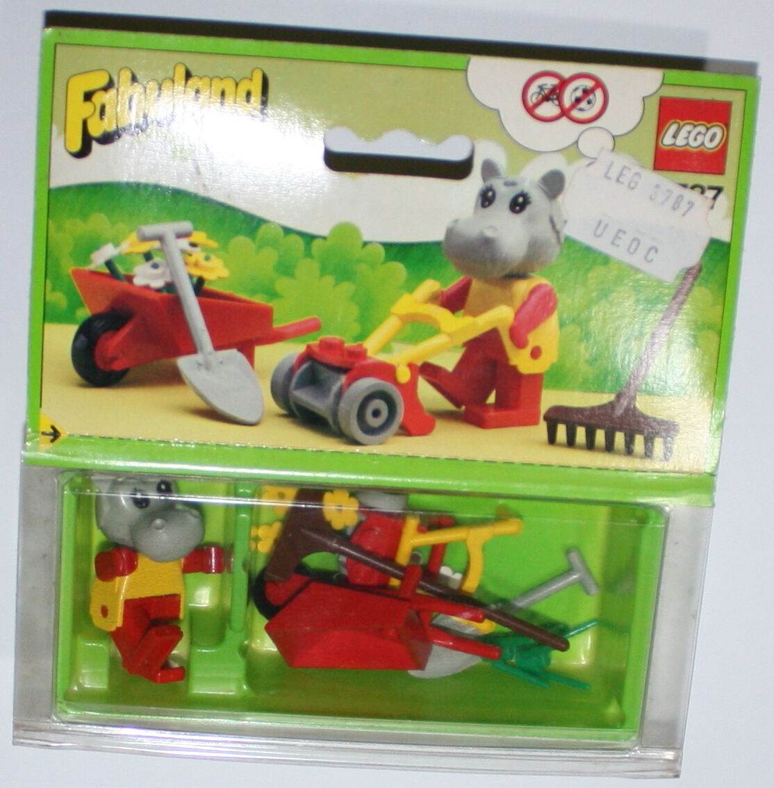 FABULAND LEGO 3787 HANNAH HIPPOPOTAMUS THE MASTER GARDEN COMPLETE SET in BOX