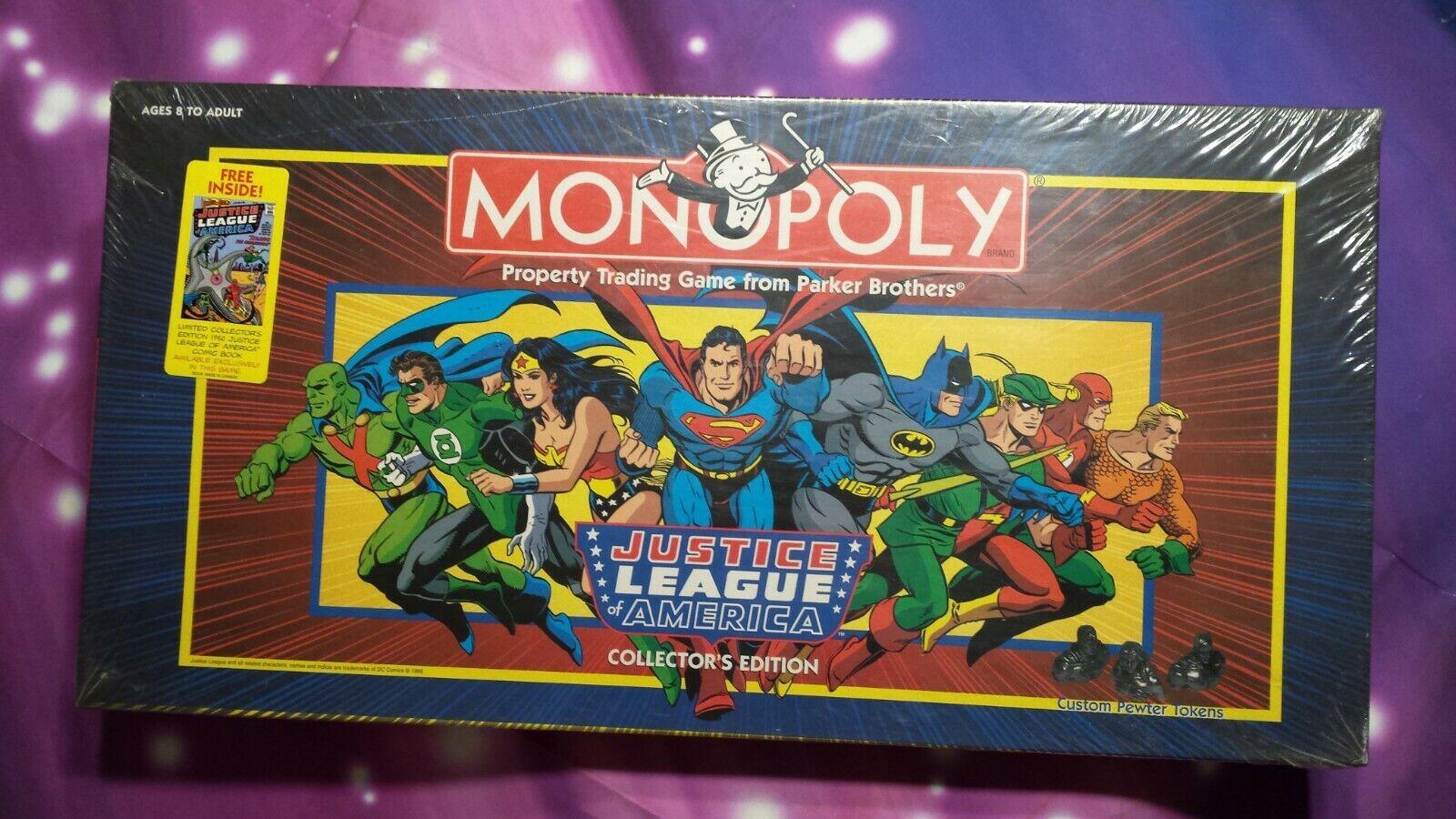 MONOPOLY Justice League America  Collector's Edition 1999 USAopoly, HASBRO, MIB  vente discount en ligne bas prix