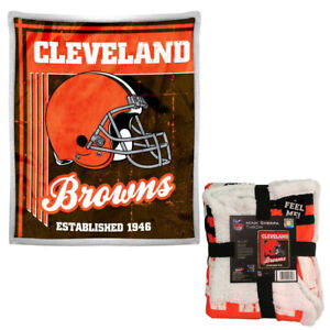 eaa53dcf Details about NFL Cleveland Browns Premium Soft Mink Sherpa Throw Blanket  Large 50