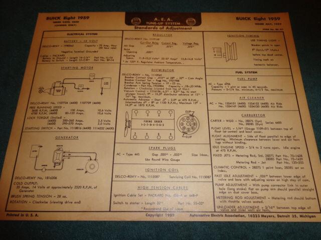 1959 Buick  Of Canada  V8 Wiring Diagram  U0026 Tune