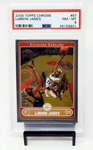 2006-Topps-Chrome-LA-Lakers-Great-LEBRON-JAMES-Basketball-Card-PSA-8-NM-MINT