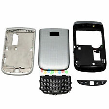 FULL HOUSING COVER + FRAME + KEYPAD FOR BLACKBERRY TORCH 9810 #H273 SILVER